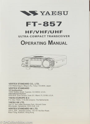 Yaesu FT-857 Amateur Radio Operating Manual