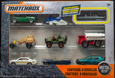 2016 Matchbox 9-Car Gift Pack (With Exclusive Cadillac Fleetwood) Die Cast Model Cars