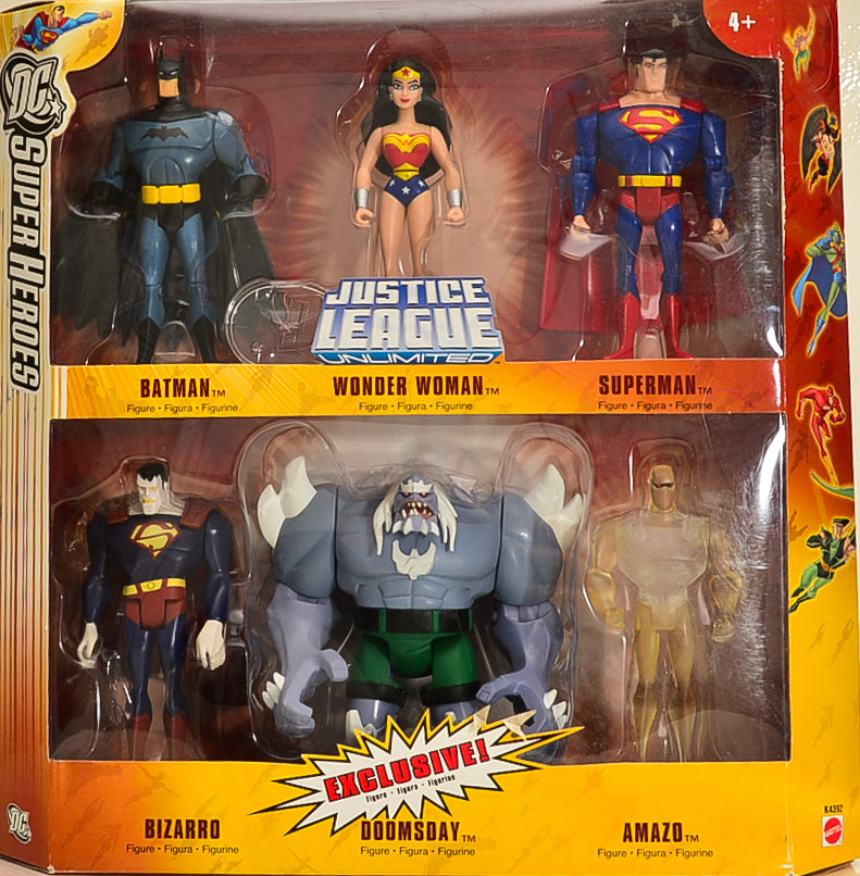 2006 Justice League Unlimited Animated Series Exclusive Action Figure 6-Pack