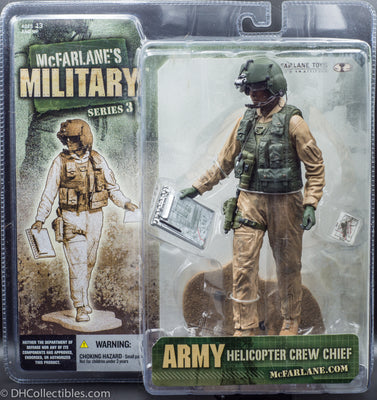 2006 McFarlane Military Series 3 Army Helicopter Female Crew Chief African American - Action Figure