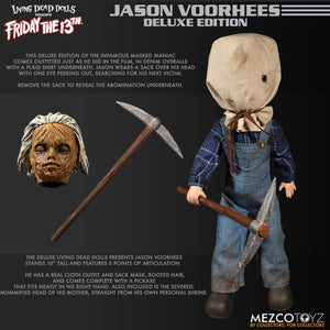 2019 Mezco Deluxe Edition Friday The 13th Part II: Jason Voorhees Living Dead Doll