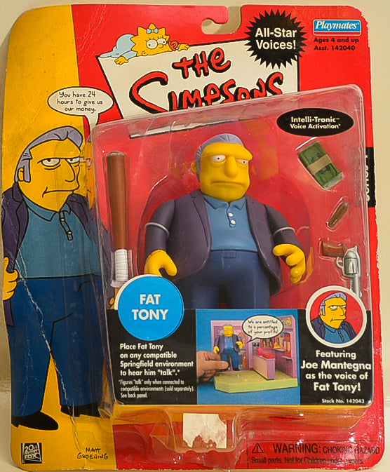 Playmates - The Simpsons - Interactive Fat Tony - Action Figure