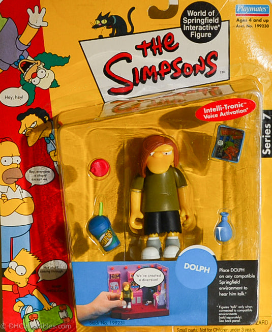 2001 Playmates The Simpsons Intelli-Tronic Series 7 Dolph Action Figure