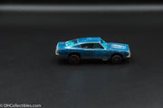 1968 Hot Wheels Redline Custom Barracuda Aqua Brown Interior