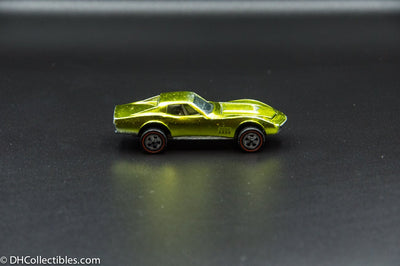 1968 Hot Wheels Redline Custom Corvette Gold Black Interior