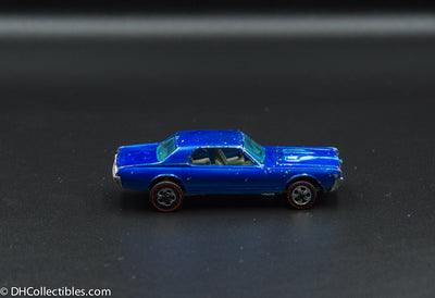 1968 Hot Wheels Redline Custom Cougar Blue with Dark Interior