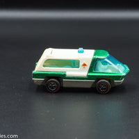 1970 Hot Wheels Redline The Heavyweights Ambulance Green