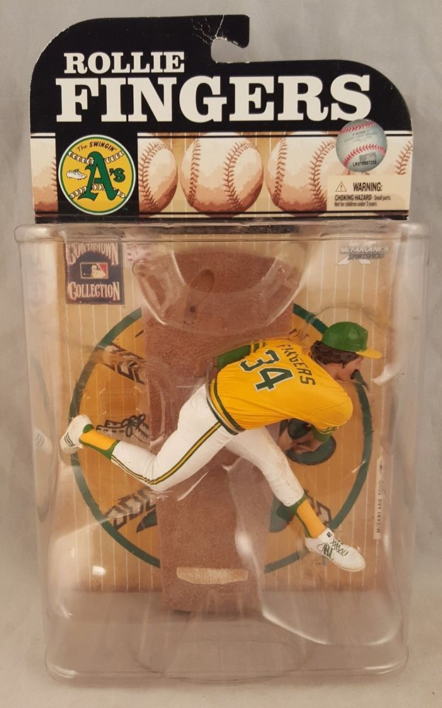 2009 McFarlane MLB Cooperstown Collection Series 6 Rollie Fingers -  Action Figure