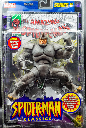 2001 ToyBiz Marvel Legends Series II Spider-Man Classics  Rhino & Comic Book