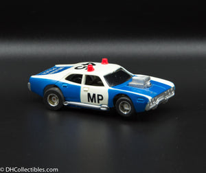 USED Tyco HO Blue w/ White Military Police Slot Car