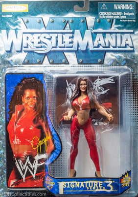 1998 WWF WWE  WrestleMania XV Signature Series 3 Jaqueline -  Action Figure