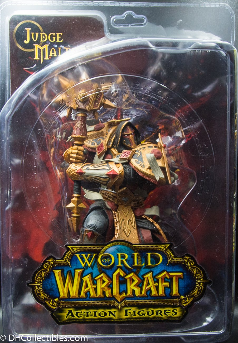 2010 DC Unlimited World Of Warcraft Series 7 Human Paladin Judge Malthred - Action Figure
