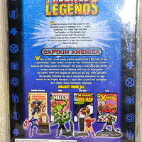 2002 ToyBiz Marvel Legends Series 1  - Captain America Gold Comic Figure