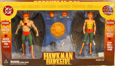 2001 DC Direct Hawkman & Hawkgirl Deluxe Action Figure Box Set