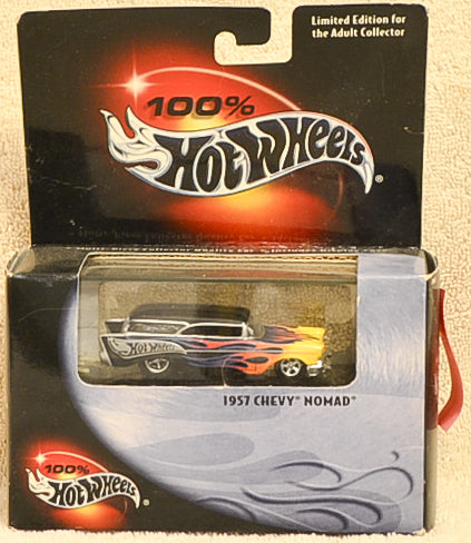 Hot Wheels 1957 Chevy Nomad Black with Yellow and Orange Flames