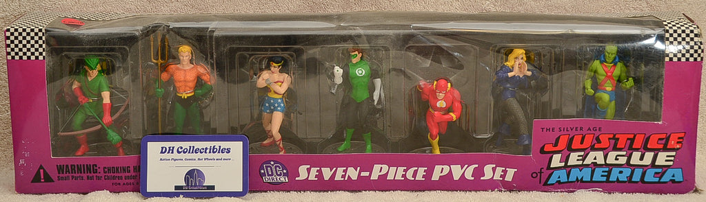 2001 DC Direct Justice League of America Silver Age Seven Piece Action Figure Set