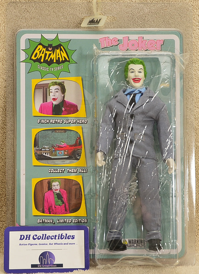 "Figures Toy Co. The Joker - Classic TV Series Grey Suit Joker Variant Action Figure 8"" Mego Retro"