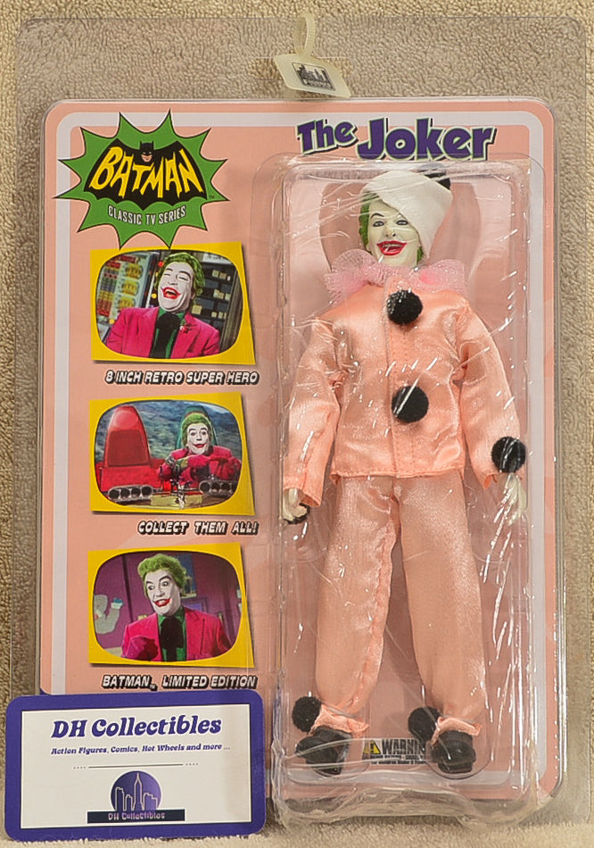 "Figures Toy Co - Batman Classic TV Series  - The Joker Pagliacci Opera Clown Variant Action Figure 8"" Mego Retro"