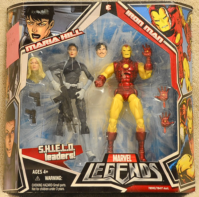 Marvel Legends - S.H.I.E.L.D Leaders - Maria Hill & Iron Man Action Figures