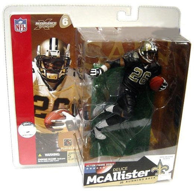 2003 McFarlane Sportspicks NFL Series 6 Deuce McAllister New Orleans Saints Black Jersey Action Figure