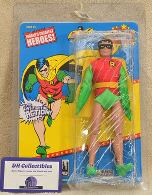 "Figures Toy Co Super Powers Series 2 Robin Action Figure 8"" Mego Retro"