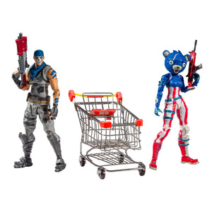 "2019 McFarlane Toys Fortnite Shopping Cart 7"" Action Figures Pack"