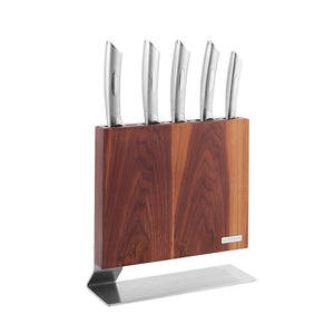 Scanpan Kattegat 6 Pce Knife Block Walnut - ZoeKitchen