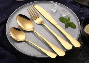 Cove Your Home Dessert Spoon - Gold - ZOES Kitchen