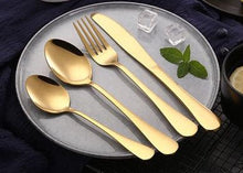Load image into Gallery viewer, Cove Your Home Dessert Spoon - Gold - ZOES Kitchen
