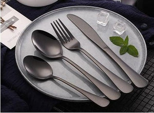 CYH DESSERT SPOON - BLACK