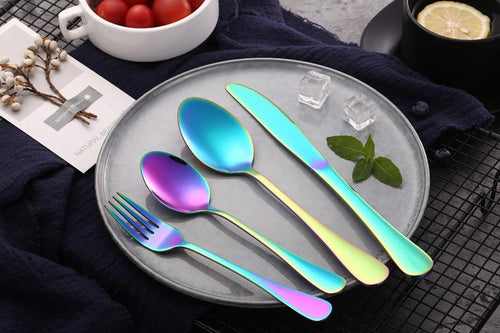 cove your home table fork - rainbow - ZoeKitchen