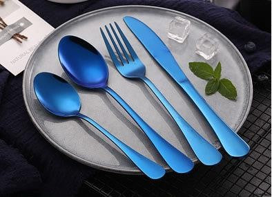 cove your home table fork - blue - ZoeKitchen
