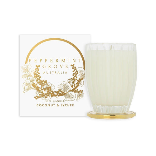Peppermint Grove Christmas Candle 350g - Coconut & Lychee - ZoeKitchen
