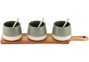 Ladelle Host Sage Bowl & Spoon Paddle - ZoeKitchen