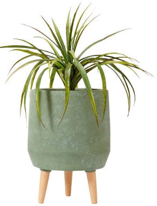 Ladelle Modern 40cm Dusty Green Legged Planter Pot - ZoeKitchen