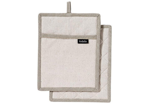 Ladelle Eco Recycled Natural 2pk Pot Holder - ZoeKitchen