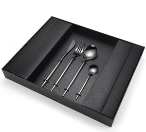 Cove Your Home Cutlery Set 16pc - Black