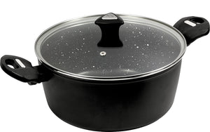 Marburg Forged Casserole 24cm W/Lid Non Stick - ZOES Kitchen