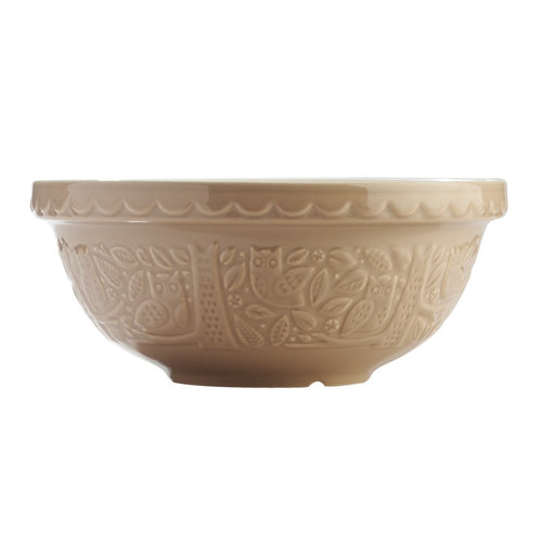 mason cash in the forrest owl stone mixing bowl 26cm/2.7l - ZoeKitchen