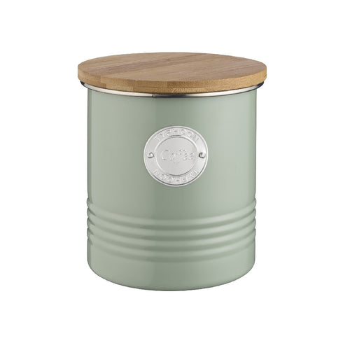 Typhoon Coffee Canister 1l Sage - ZOES Kitchen