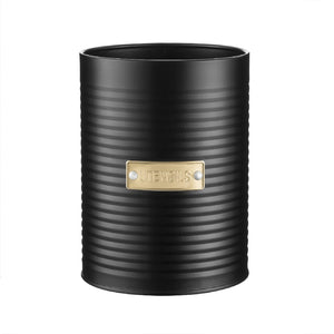 Typhoon Utensil Storage Canister Black - ZOES Kitchen