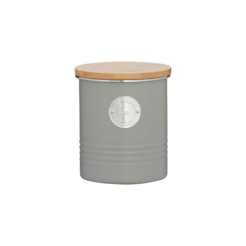 Typhoon Tea Canister 1l Grey - ZOES Kitchen