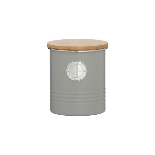 Typhoon Sugar Canister 1l Grey - ZOES Kitchen
