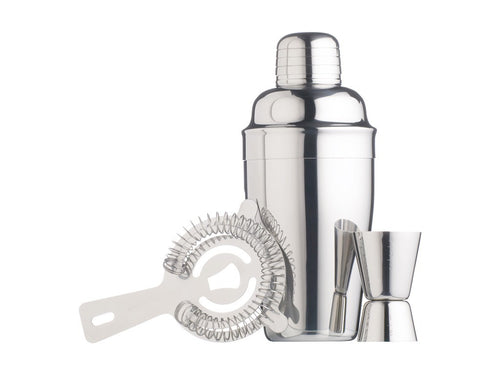 bc cocktail kit 3pc stainless steel gift boxed - ZoeKitchen