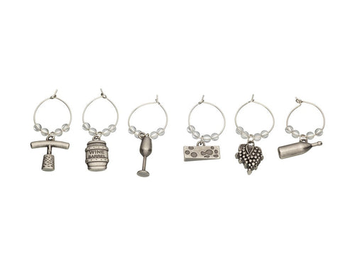 BC WINE CHARMS 6PC SET GIFT BOXED - ZoeKitchen