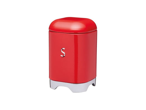 Kc Lovello Sugar Canister 11x18cm 1.5l Red - ZOES Kitchen