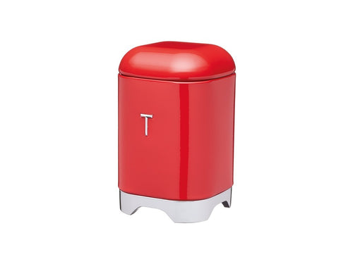 Kc Lovello Tea Canister 11x18cm 1.5l Red - ZOES Kitchen