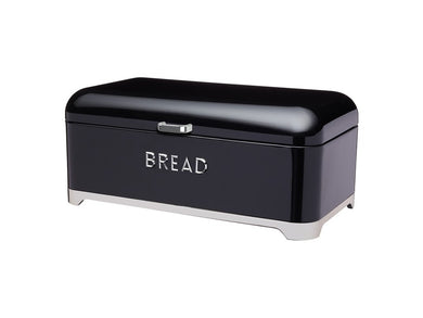 Kc Lovello Bread Bin 42x22x19cm Black - ZOES Kitchen