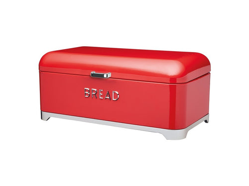 Kc Lovello Bread Bin 42x22x19cm Red - ZOES Kitchen