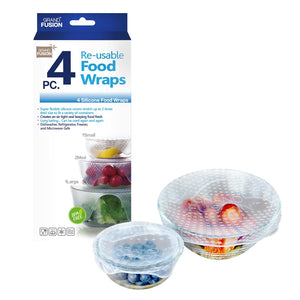 Dline Silicone Food Wraps 4 Pack - Clear - ZOES Kitchen